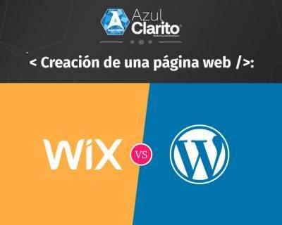 Creación de una página web WordPress vs WIX.